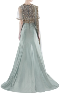 Fusion embroidered mermaid gown