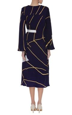 Hand painted midi dress