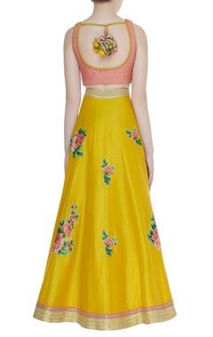 Floral printed lehenga & embellished blouse set