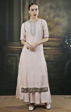 rose pink kurta with palazzos