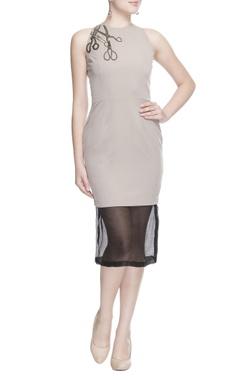 Light grey midi dress