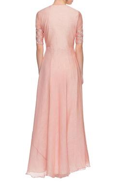 Pastel pink long kurta
