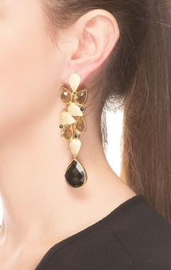 Black & brown rain drop   jhumkas