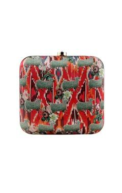 Tribal cow printed clutch