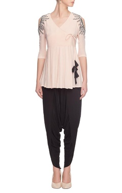 pink mirror-embellished angarkha top