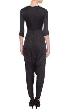 black ghungroo-embellished jumpsuit