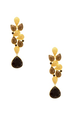 Mehtaphor Black & brown rain drop   jhumkas