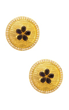 Mehtaphor Signature gold studs