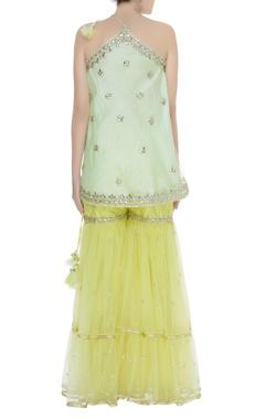 Embroidered halter neck kurta set