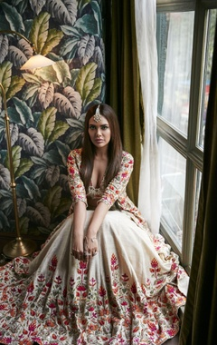 Arpita Mehta Resham thread embroidered lehenga set
