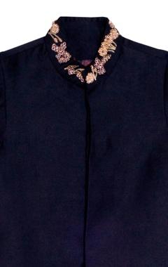 Black sherwani with gold embellishments