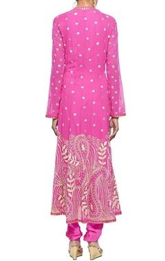 Raani pink embroidered kurta set