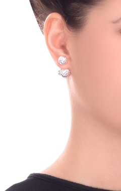 silver peek-a-boo sterling earring