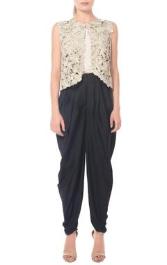 Black dhoti pants by Namrata Joshipura