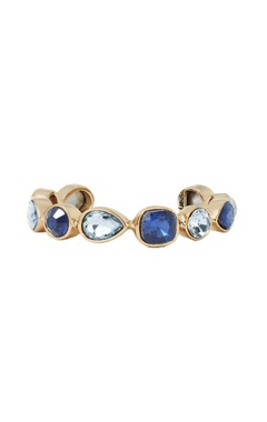 Blue crystal skinny cuff