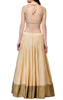 Ivory & cream embroidered lehenga set