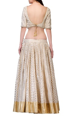 Ivory floral embroidered lehenga set