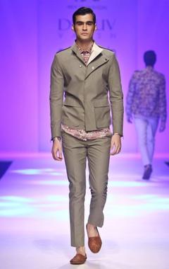 grey overlapping jacket