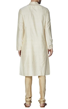 Cream embroidered kurta set