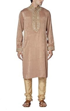 rose gold embroidered kurta set