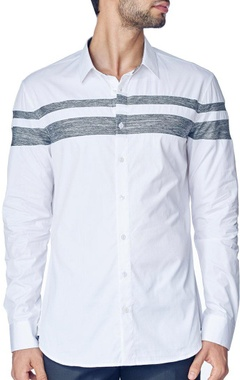 Double striped white shirt