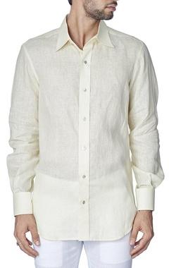 classic beige linen shirt