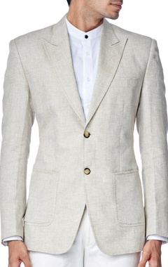 Light beige linen blazer