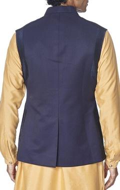 Navy blue cotton bandi