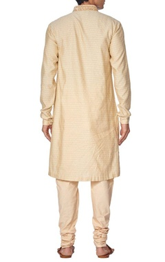Light beige embroidered kurta set