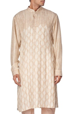 Light brown printed kurta set