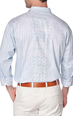 Blue cotton printed shirt