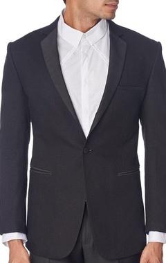 black textured tuxedo jacket