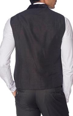 Black double waistcoat