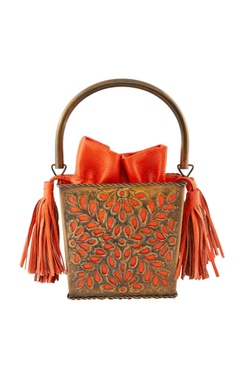 Orange tissue box style clutch