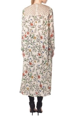 Ivory floral twig printed tunic