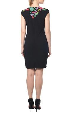 Black bead embellished dress