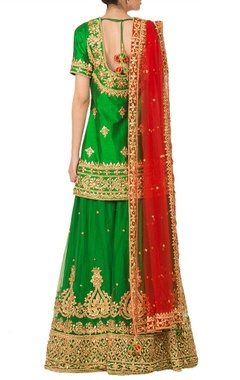 Emerald green gota patti sharara set