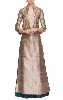 Oyster resham jaal work kurta with sharara