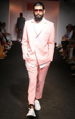 dusky pink suit jacket