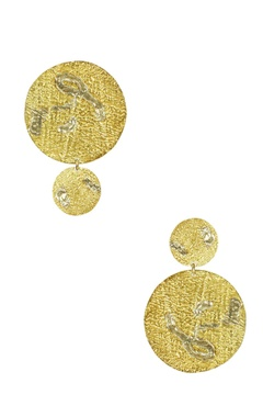 Flower Child by Shaheen Abbas Gold & silver mismatch abstract drop earrings