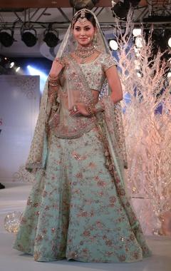 Vikram Phadnis Zardozi & resham embroidered bridal lehenga set