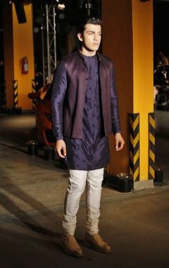 silk kurta, churidaar & bandi jacket