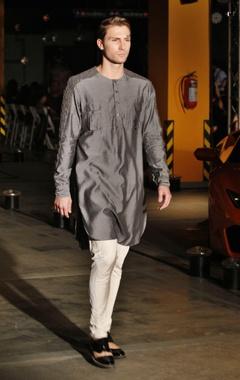 Silk kurta & churidaar set