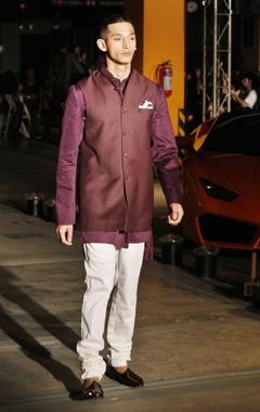 silk kurta, churidaar & bandi jacket