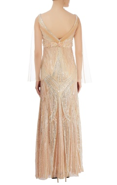 Light gold embellished gown