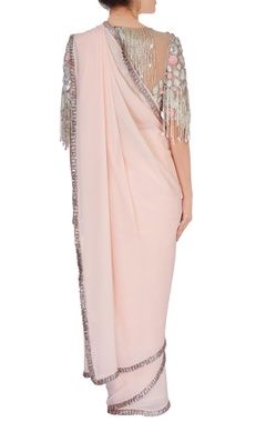baby pink sari with blouse