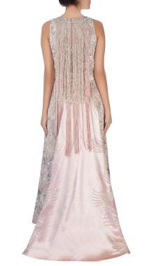 Pastel pink front slit kurta & dupatta