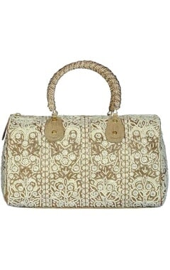 Antique gold and pearl embellished bag