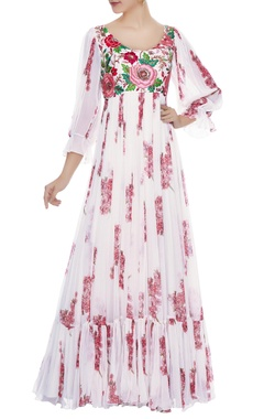 Mrunalini Rao Off-white rose cherry blossom gown