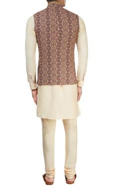 Multi-colored printed Nehru jacket